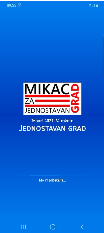 Mikac 2021 Varaždin android splash screen
